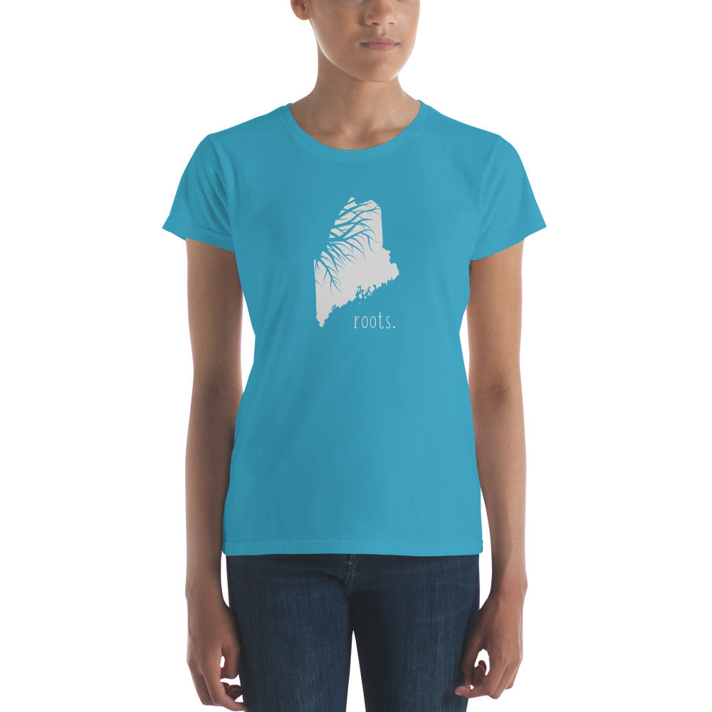 Maine Roots Ladies Tee - OnlyInYourState Apparel