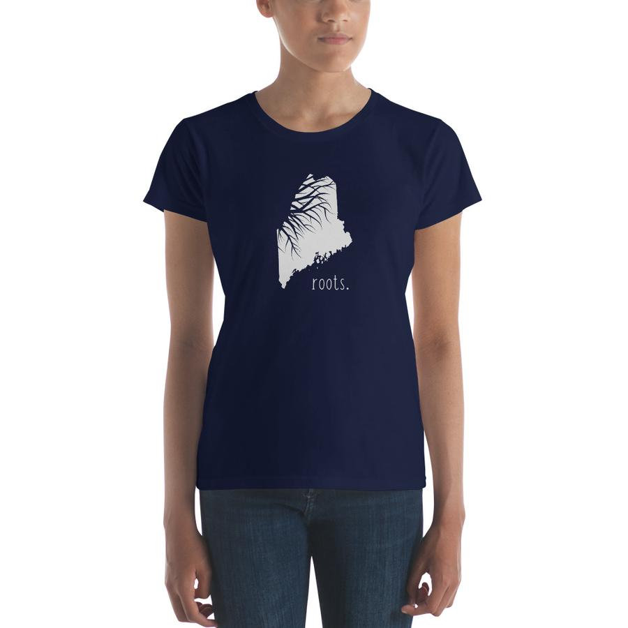 SALE! Navy Roots Ladies Tee, Medium