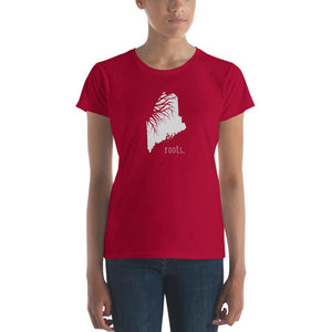 SALE! Red Maine Roots Ladies Tee, Medium - OnlyInYourState Apparel