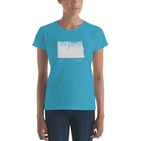 North Dakota Roots Ladies Tee - OnlyInYourState Apparel