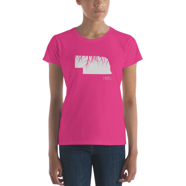 Nebraska Roots Ladies Tee - OnlyInYourState Apparel