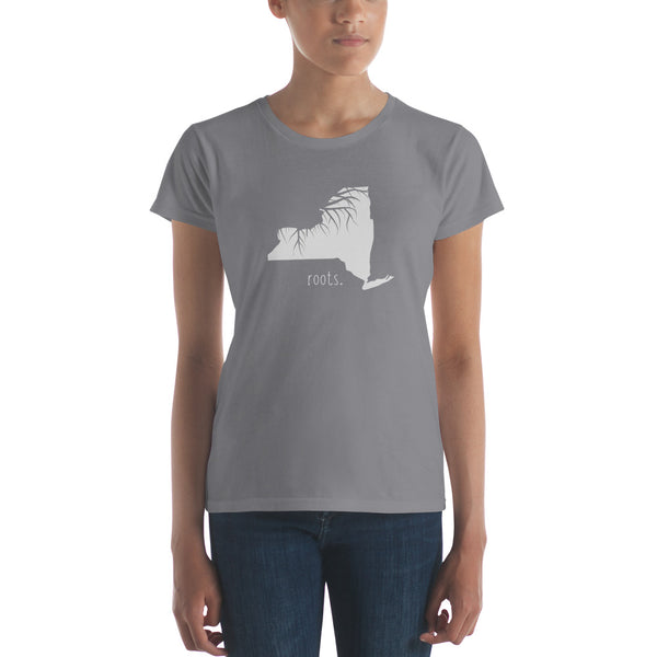 New York Roots Ladies Tee - OnlyInYourState Apparel