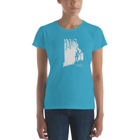 Rhode Island Roots Ladies Tee - OnlyInYourState Apparel
