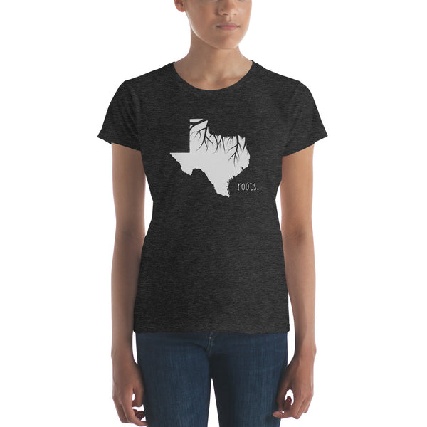 Texas Roots Ladies Tee - OnlyInYourState Apparel