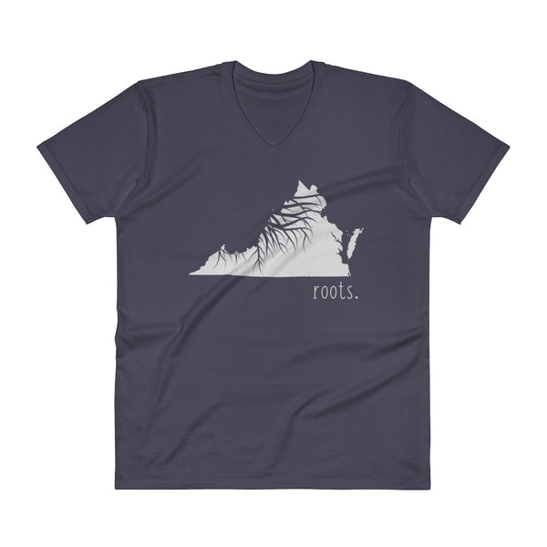 Virginia Roots V-Neck T-Shirt - OnlyInYourState Apparel