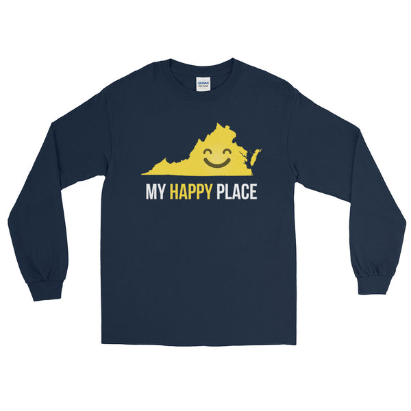 VA Is My Happy Place Long Sleeve - OnlyInYourState Apparel