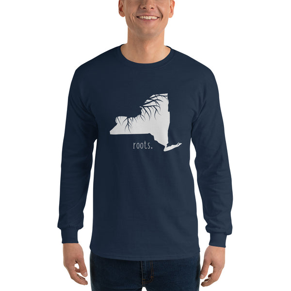New York Roots Long Sleeve T-Shirt - OnlyInYourState Apparel