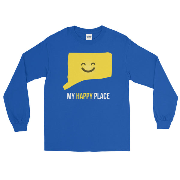 CT Is My Happy Place Long Sleeve - OnlyInYourState Apparel