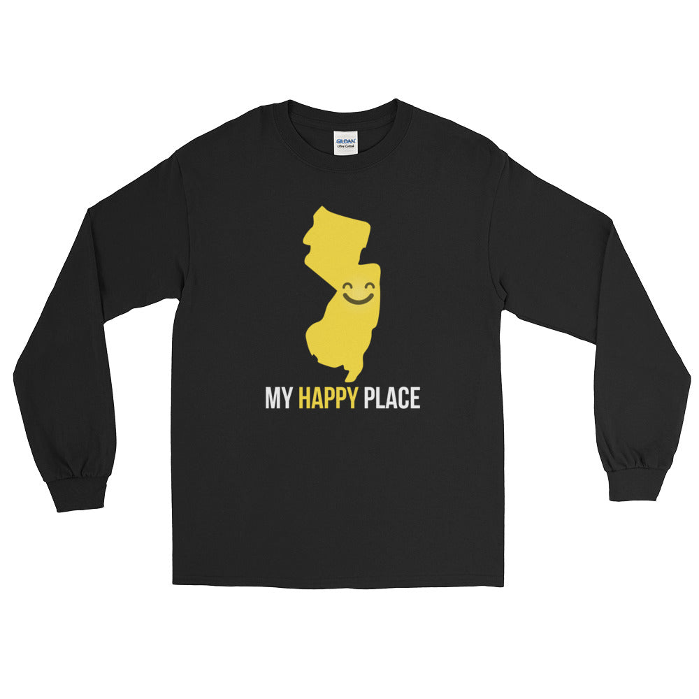 NJ Is My Happy Place Long Sleeve - OnlyInYourState Apparel