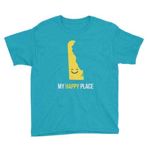 DE Is My Happy Place Kids Tee - OnlyInYourState Apparel