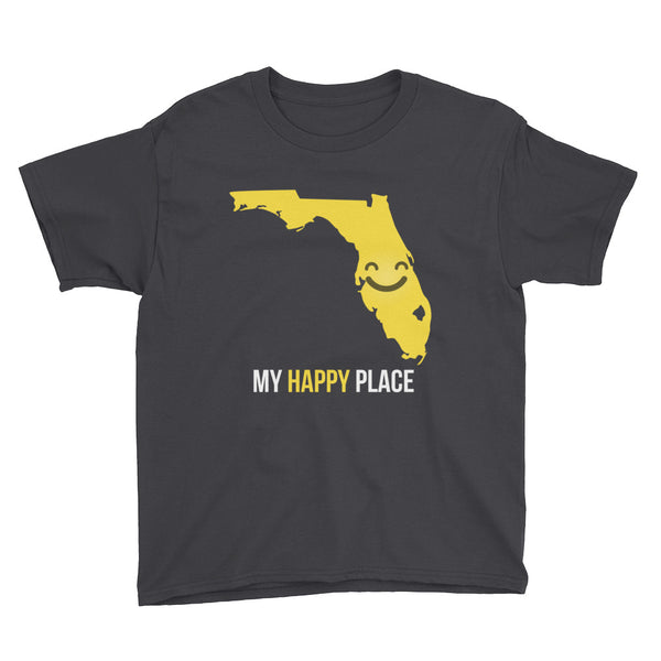 FL Is My Happy Place Kids Tee - OnlyInYourState Apparel