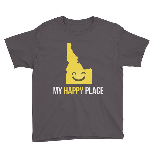 ID Is My Happy Place Kids Tee - OnlyInYourState Apparel
