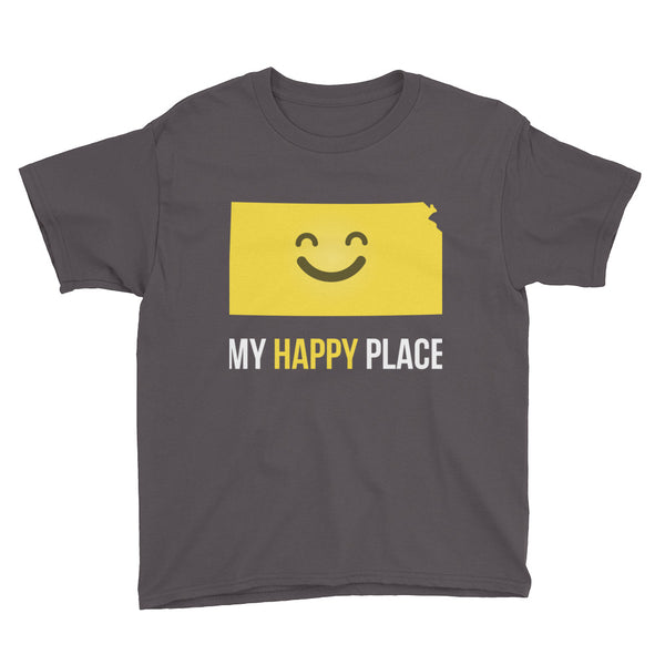 KS Is My Happy Place Kids Tee - OnlyInYourState Apparel