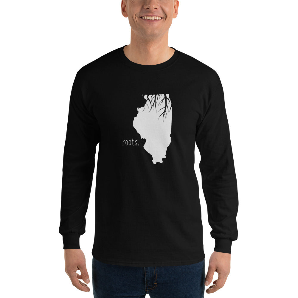 Illinois Roots Long Sleeve T-Shirt - OnlyInYourState Apparel