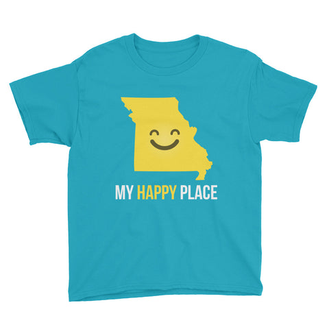 MO Is My Happy Place Kids Tee - OnlyInYourState Apparel