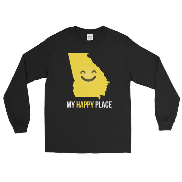 GA Is My Happy Place Long Sleeve - OnlyInYourState Apparel