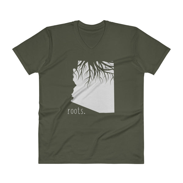 Arizona Roots V-Neck T-Shirt - OnlyInYourState Apparel