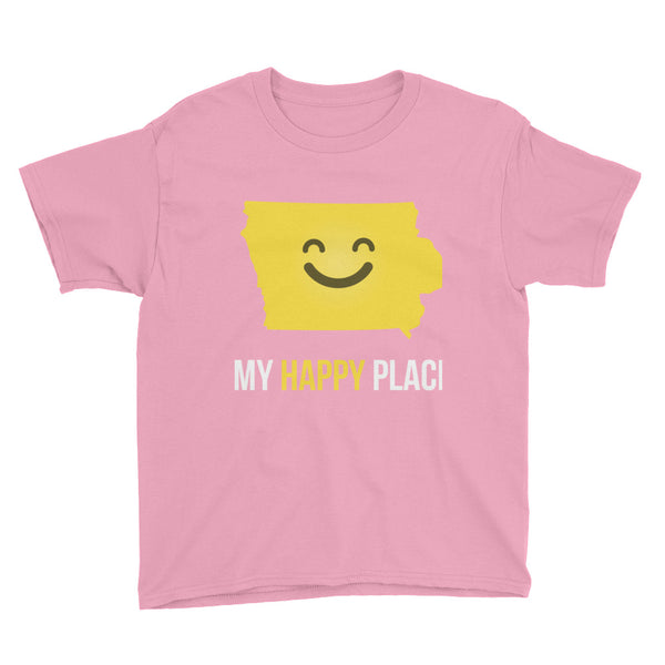IA Is My Happy Place Kids Tee - OnlyInYourState Apparel