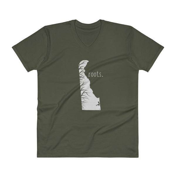 Delaware Roots V-Neck T-Shirt - OnlyInYourState Apparel