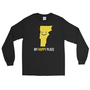 VT Is My Happy Place Long Sleeve - OnlyInYourState Apparel