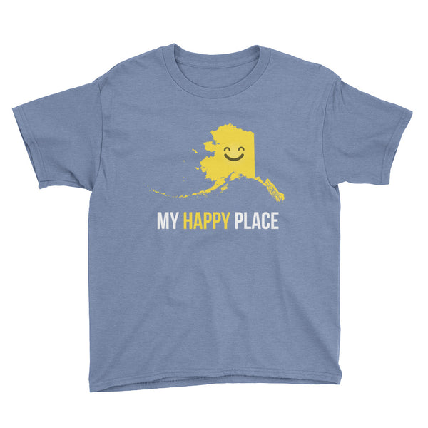 AK Is My Happy Place Kids Tee - OnlyInYourState Apparel