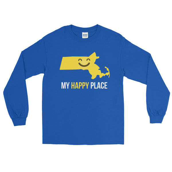 MA Is My Happy Place Long Sleeve - OnlyInYourState Apparel