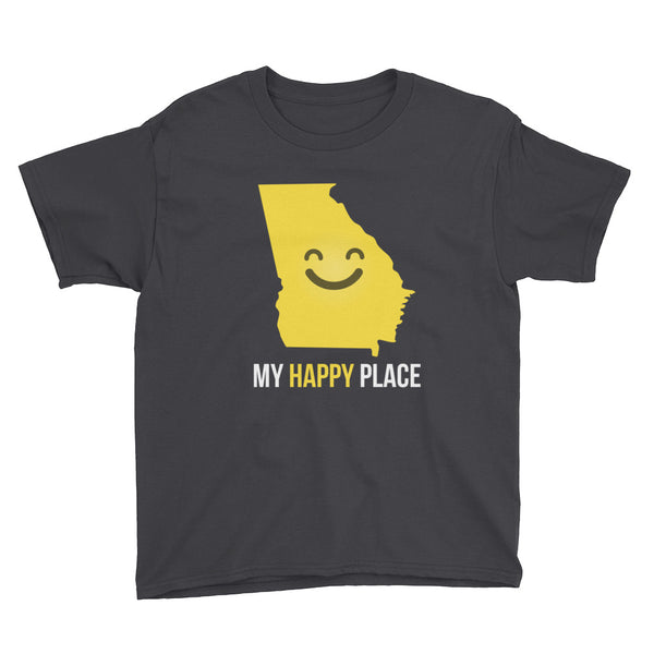 GA Is My Happy Place Kids Tee - OnlyInYourState Apparel