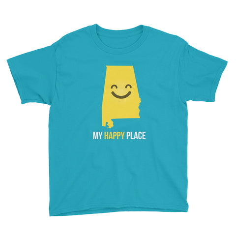 AL Is My Happy Place Kids Tee - OnlyInYourState Apparel