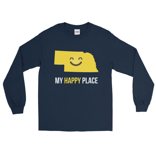 NE Is My Happy Place Long Sleeve - OnlyInYourState Apparel