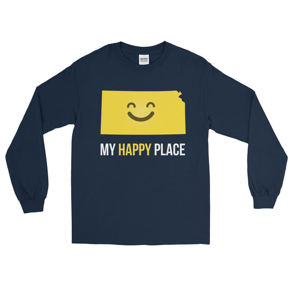 KS Is My Happy Place Long Sleeve - OnlyInYourState Apparel