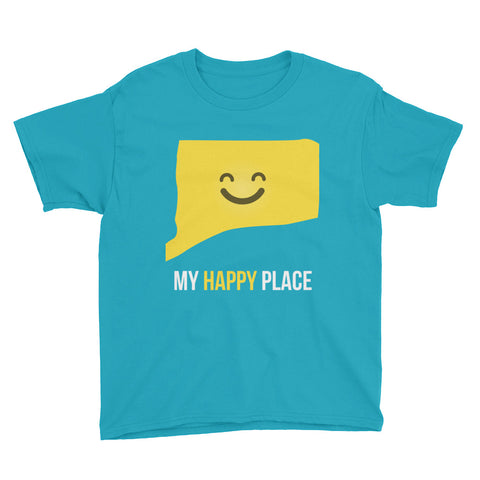 CT Is My Happy Place Kids Tee - OnlyInYourState Apparel