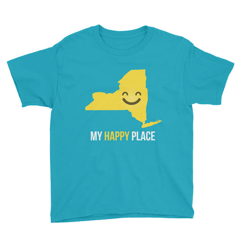 NY Is My Happy Place Kids Tee - OnlyInYourState Apparel