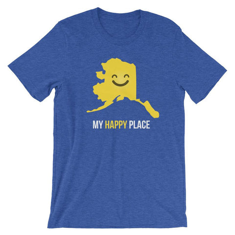 AK Is My Happy Place T-shirt - OnlyInYourState Apparel