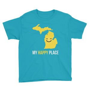 MI Is My Happy Place Kids Tee - OnlyInYourState Apparel