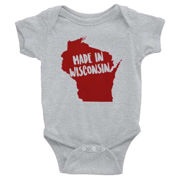 Made In Wisconsin Onesie - OnlyInYourState Apparel