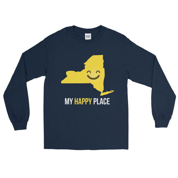 NY Is My Happy Place Long Sleeve - OnlyInYourState Apparel