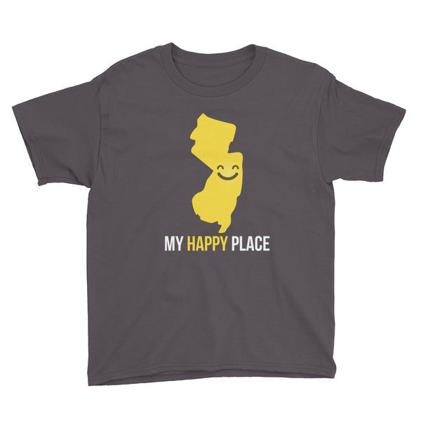 NJ Is My Happy Place Kids Tee - OnlyInYourState Apparel