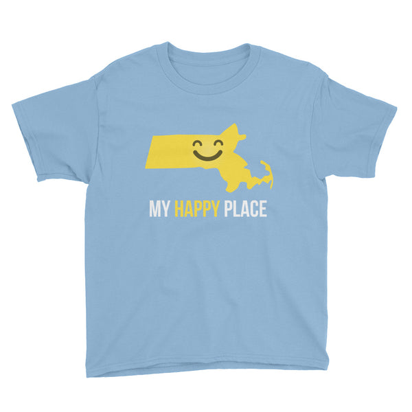 MA Is My Happy Place Kids Tee - OnlyInYourState Apparel
