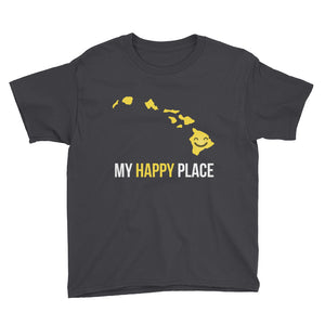 HI Is My Happy Place Kids Tee - OnlyInYourState Apparel