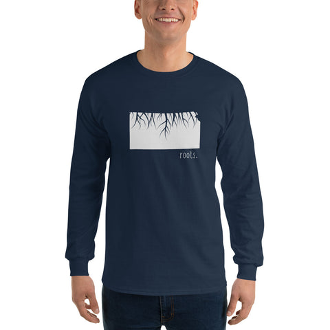 SALE! Nave Kansas Roots Long Sleeve T-Shirt, XXL - OnlyInYourState Apparel