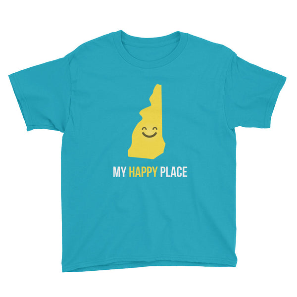 NH Is My Happy Place Kids Tee - OnlyInYourState Apparel