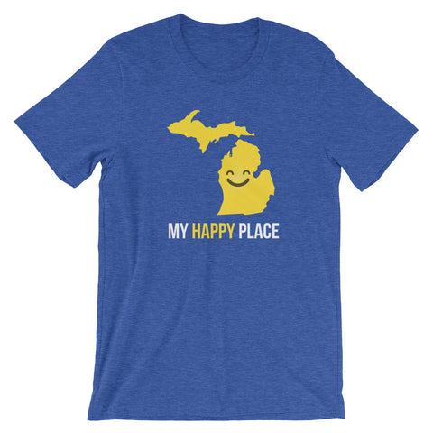 MI Is My Happy Place - OnlyInYourState Apparel
