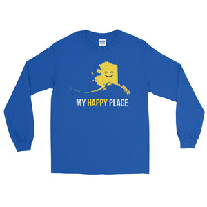 AK Is My Happy Place Long Sleeve - OnlyInYourState Apparel