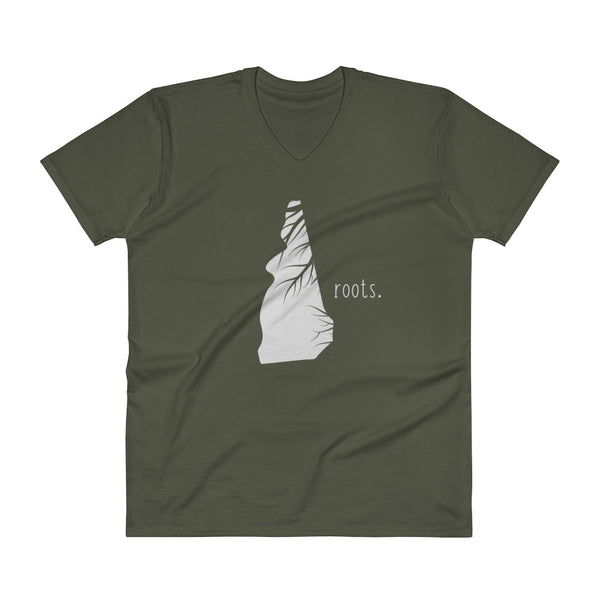 New Hampshire Roots V-Neck T-Shirt - OnlyInYourState Apparel