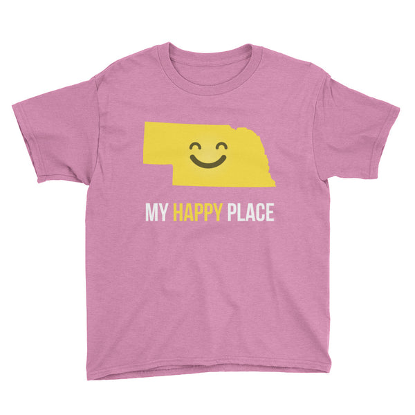 NE Is My Happy Place Kids Tee - OnlyInYourState Apparel