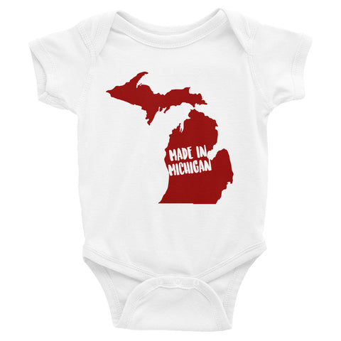 Made In Michigan Onesie - OnlyInYourState Apparel