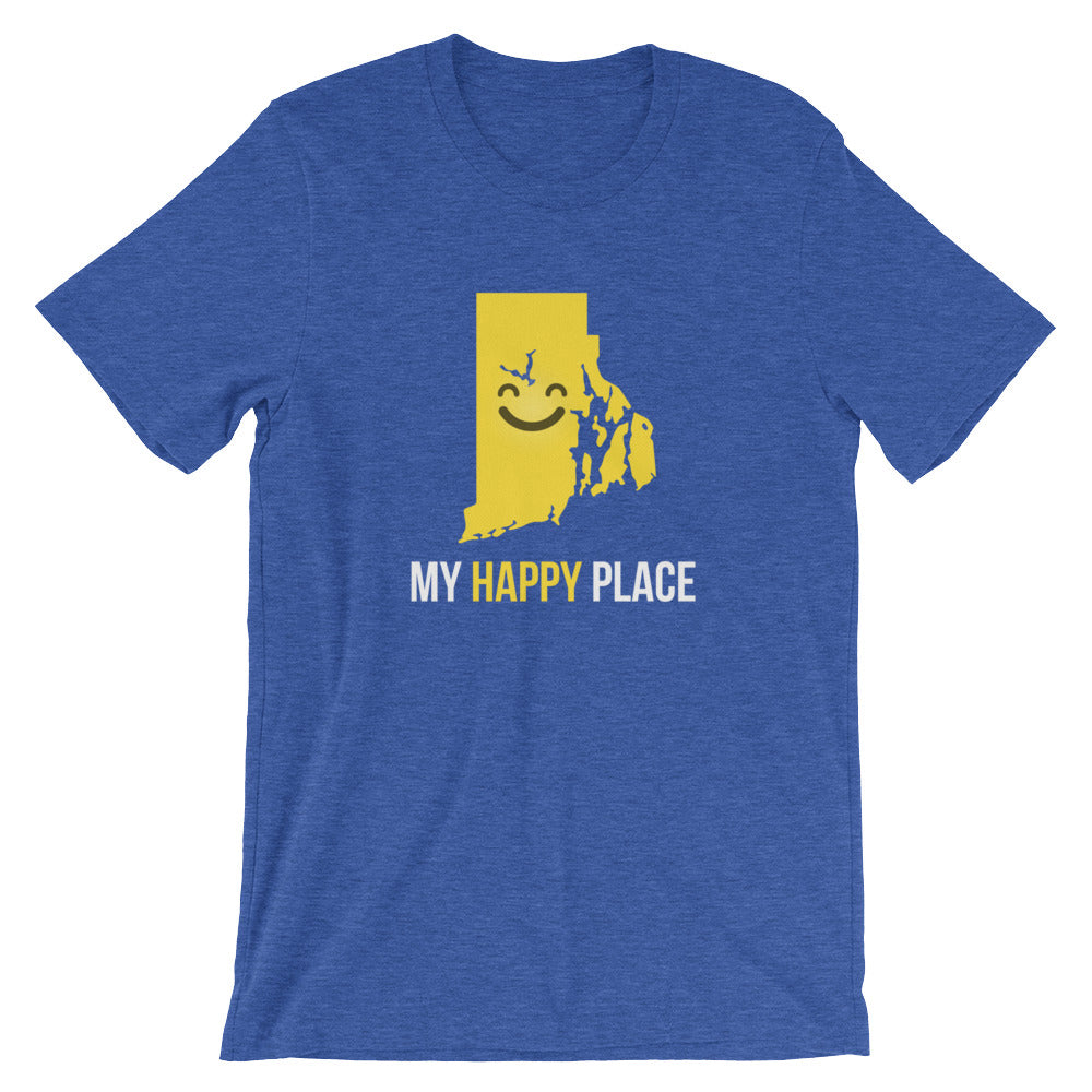 RI Is My Happy Place Shirt - OnlyInYourState Apparel