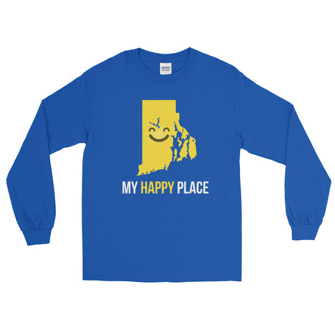RI Is My Happy Place Long Sleeve - OnlyInYourState Apparel