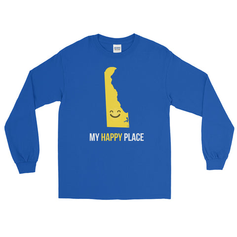DE Is My Happy Place Long Sleeve - OnlyInYourState Apparel