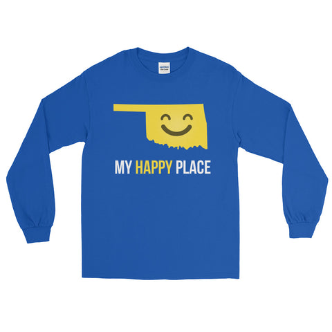 OK Is My Happy Place Long Sleeve - OnlyInYourState Apparel